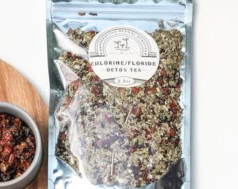 Chlorine & Flouride Detox Tea- Pineal Gland and Whole Body Detox, 100% Organic, Large- 75 servings