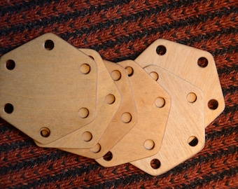 Tablet weaving cards, Hexagonal tablets, Six Holes tablets, Braid belt band weaving, Medieval viking art, VytuVatu tablets
