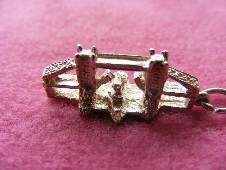 J Vintage Sterling Silver Charm London Tower Bridge
