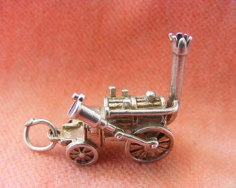 G) Vintage Sterling Silver Charm Stephenson's Rocket