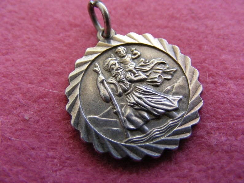 G Vintage Sterling Silver Charm Charms St Christopher