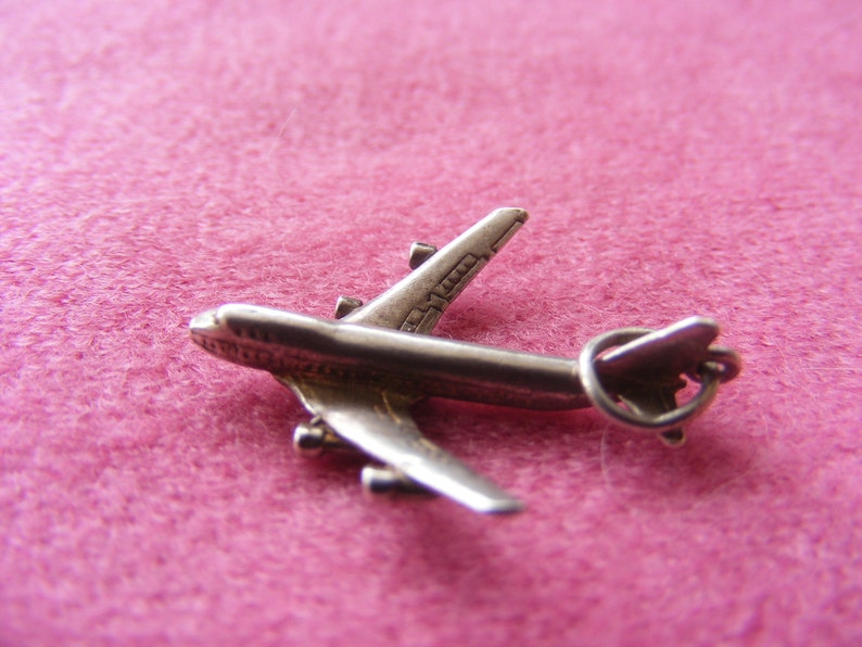 Vintage Sterling Silver Charm Airplane G