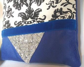Clutch - pouch fabric-wedding clutch - fleece - gifts