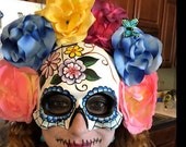 Dia De Los Muertos Mask flower day of the dead deco and wearable mask
