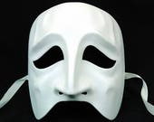 Full Face Tradegy Mask Base Paint your own Halloween Mask