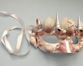 Mermaid Masquerade mask Seashells Princess Half face Mask dress up Party Wear