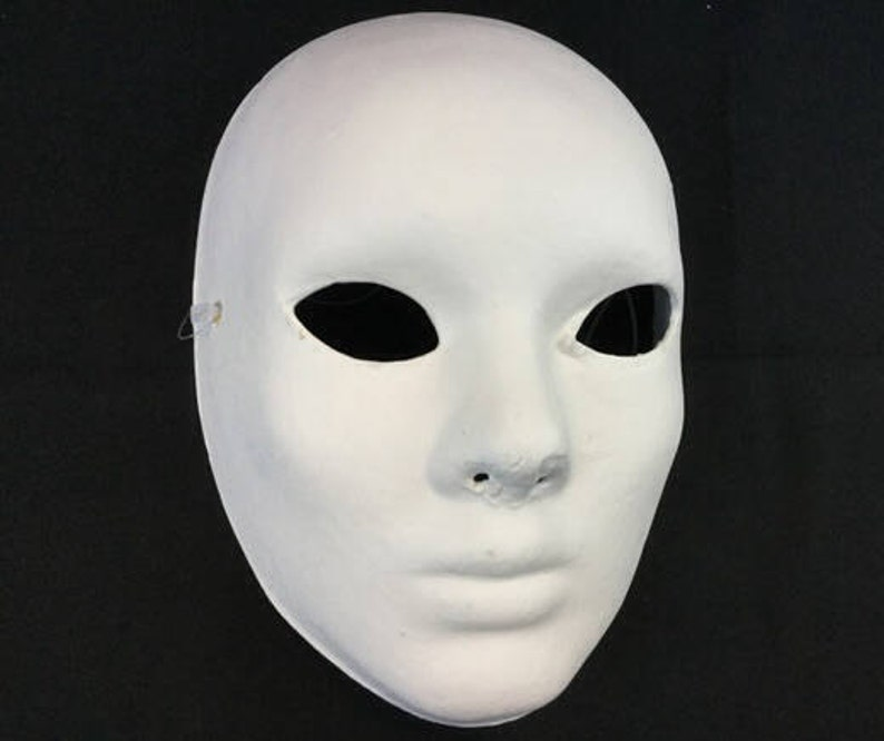 Good Halloween Female Girls Women White Full Face Mask DIY Mask Base