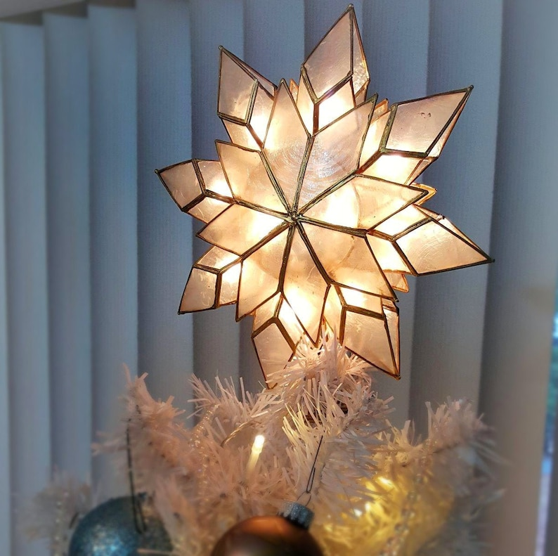 Gold Rustic Christmas Tree Topper Star Star Tree Topper for image 0