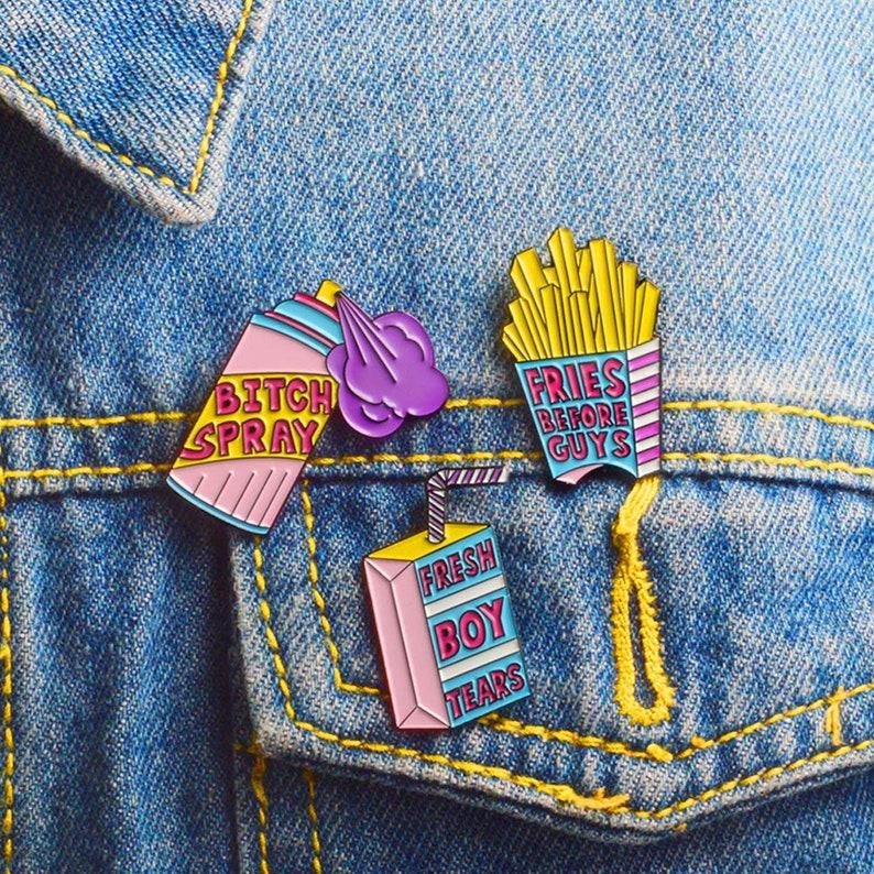 cdf506b184a9 Feminist Enamel Pin Set of 5, Hard Enamel Pins, Feminism Lapel Pin Badge
