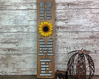 Rustic Sunflower Home Sign Farmhouse Decor