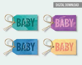 PRINTABLE Gift Tags: Oh Baby!