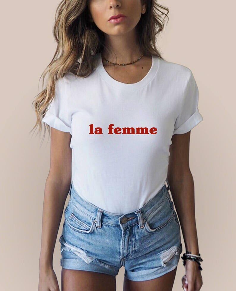 Femme Shirt Oui La BonjourEtsy French 6IgbfvY7y