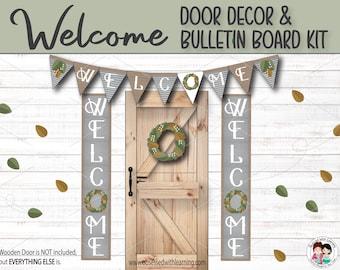 Classroom Door Décor, Farmhouse Classroom Décor, Bulletin Board Decorations, Classroom Posters, Classroom Door Sign