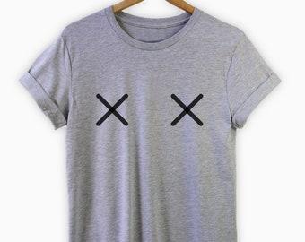 Feminist Shirt, Boobs TShirt, Feminist T-shirt, Free The Nipple Shirt, Boobs shirt, X Boobs Shirt, Feminist Gift, Nipple Shirt, Feminism