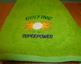 Super Power Golf Towel
