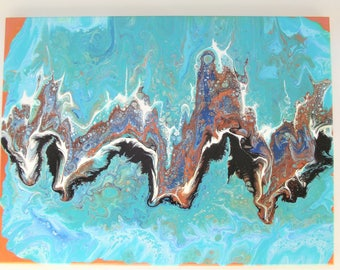 Large abstract original acrylic painting on stretched canvas 18x24