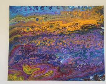 Abstract-Original Painting 11 X 14 on stretched canvas