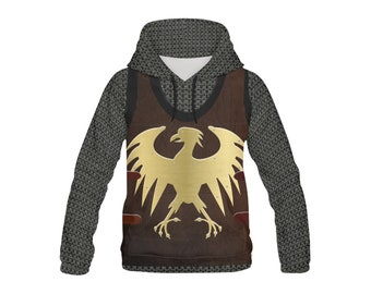 Kid s Heroic Eagle Leather Chainmail Fantasy Costume Armor Hoodie f250ec273759