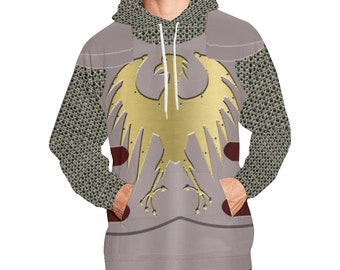 1ec0ccad Silver Heroic Chain Platemail Fantasy Costume Armor Hoodie