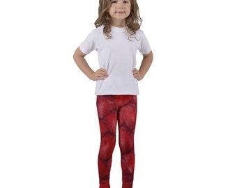 Red Dragon Mermaid Fantasy Costume Kid's Tights Pants Leggings