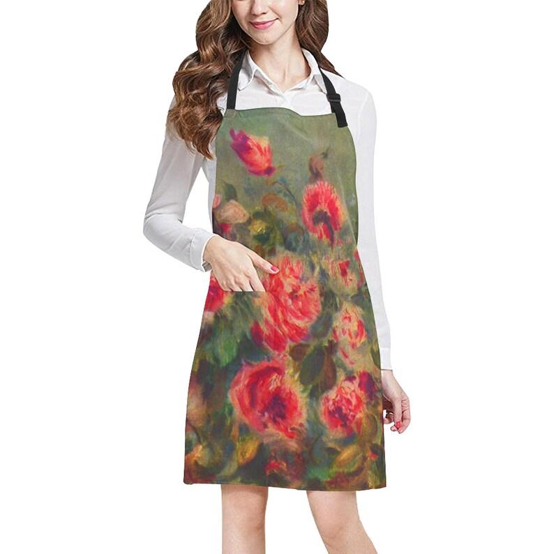 bd8bf6cf293d Red Roses Renoir Art Adjustable Apron