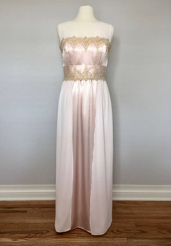 A Line Pink And Gold Wedding Dress Pink And Gold Bridal Gown Etsy