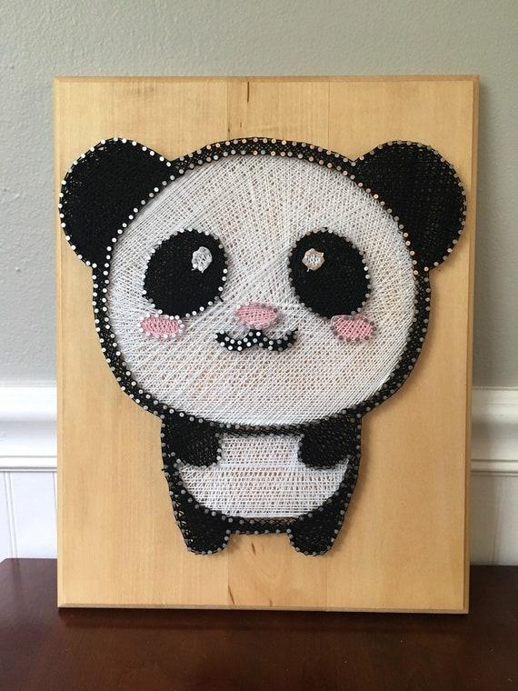 Стринг арт шаблоны панда, открытку