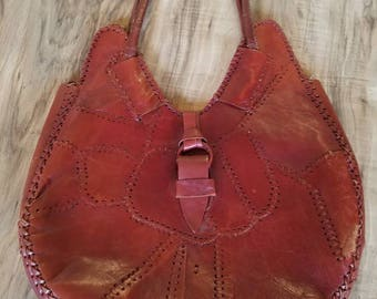 70s Red Patchwork Purse