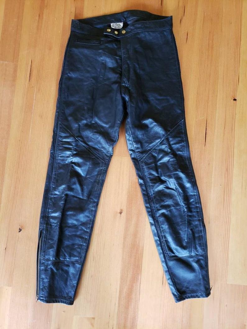 Vintage Langlitz Leather Motorcycle Pants 32x38 EXCELLENT Condition
