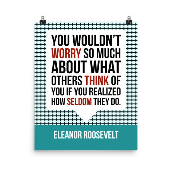 Eleanor Roosevelt Quote Poster Motivational Inspirational Etsy