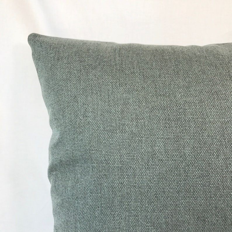 20 x 20 Teal Heathered Canvas Pillow Cover Mid Century Danish Modern Pillow Cover Designer Pillow