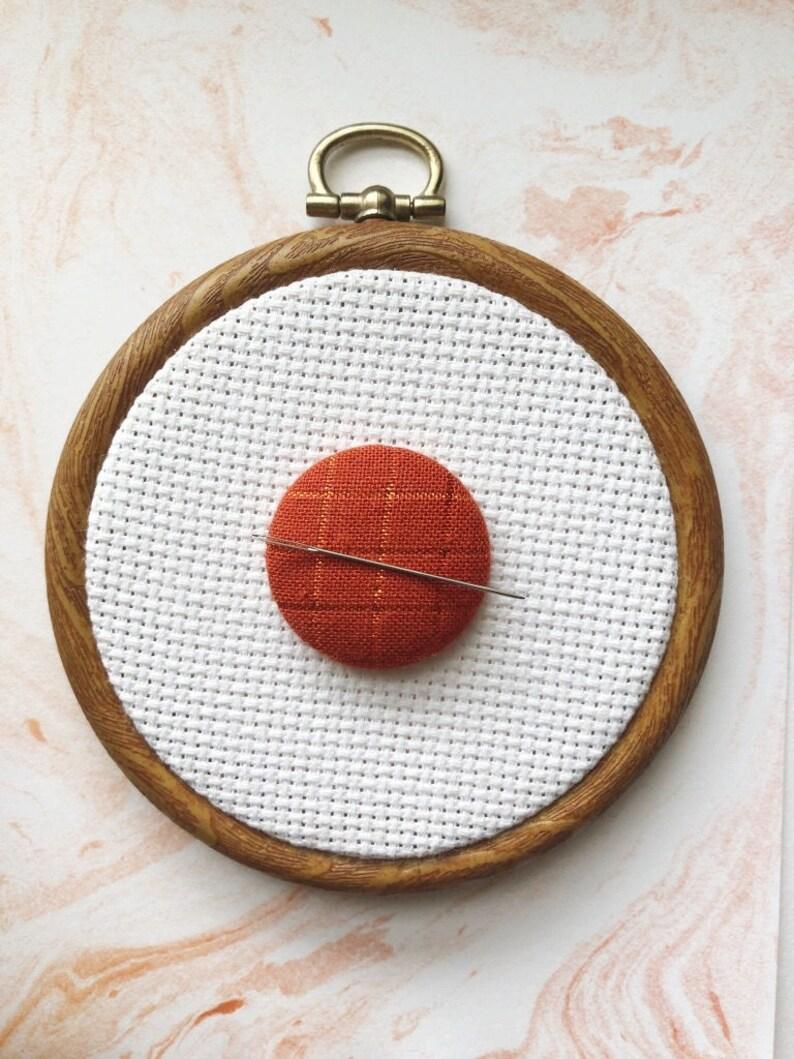 Cross Stitch Magnetic Needle Minder Sewing Notion Hand image 0
