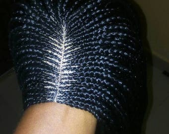 Handmade braided cornrow wig. Neatly and tightly done. READY  TO SHIP.