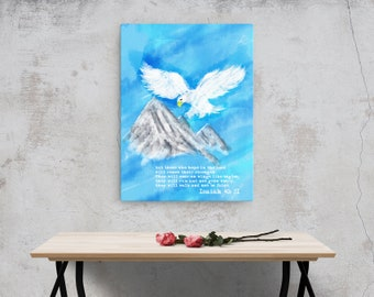 Isaiah 40: 31 Canvas; Digital Painting; Scripture Art Gifts