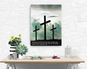 Galatians 2: 20 canvas; Scripture Art Gifts