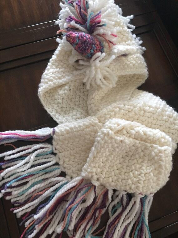 Reino Unido amplia selección de diseños en venta Unicornio: Gorra, Bufanda y Guantes, Tejido a Mano, Crochet, Modelo  Unicornio, Personalizables