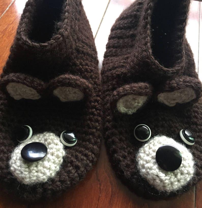 2d6dbe88 Oso: Zapatos de Estambre Tejidos a Mano Crochet Modelo Balú | Etsy