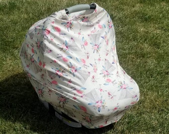 Floral Tents || Stretchy 4 in 1 Baby Car Seat Cover || Nursing Cover