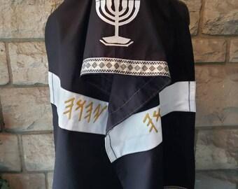 cc6e6d33bea9d Prayer Shawl  Tallit (Black