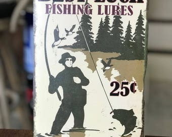 Best Luck Fishing Lures sign from 1950s