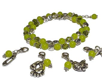Gemstone Peridot Nursing Bracelet - Nursing Reminder Bracelet - Breastfeeding Bracelet - Birthstone August