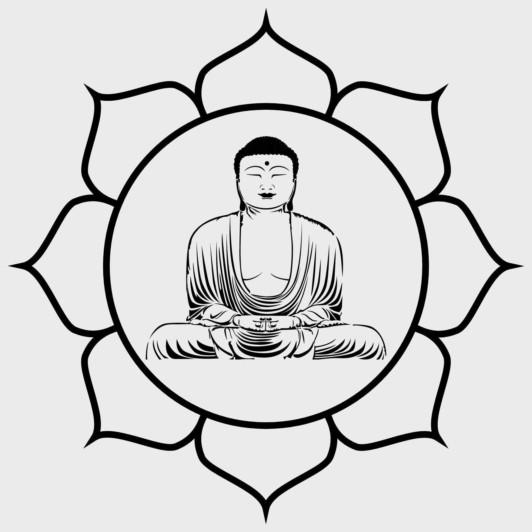 Buddha In Lotus Flower Svg Cut File Etsy