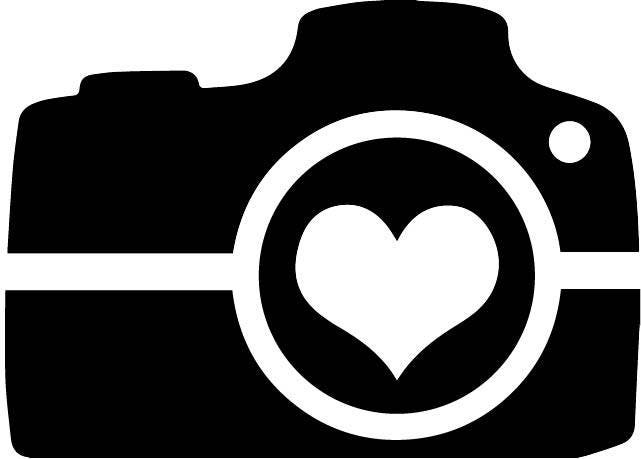 Camera With A Heart In The Lens Svg Cut File Etsy