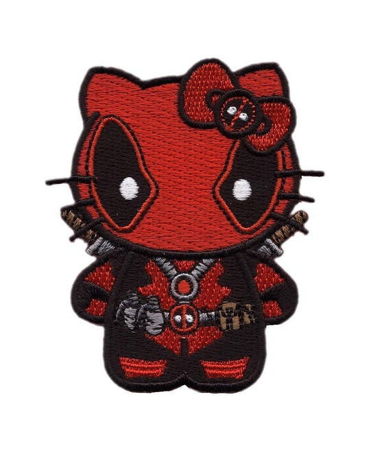 Hook Fastener This Is What Awesome Looks Like Deadpool Parody Black Patch