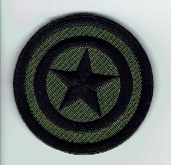 Captain America Hook   Loop Camo Green Tactical Gear Patch  ce777f657c3