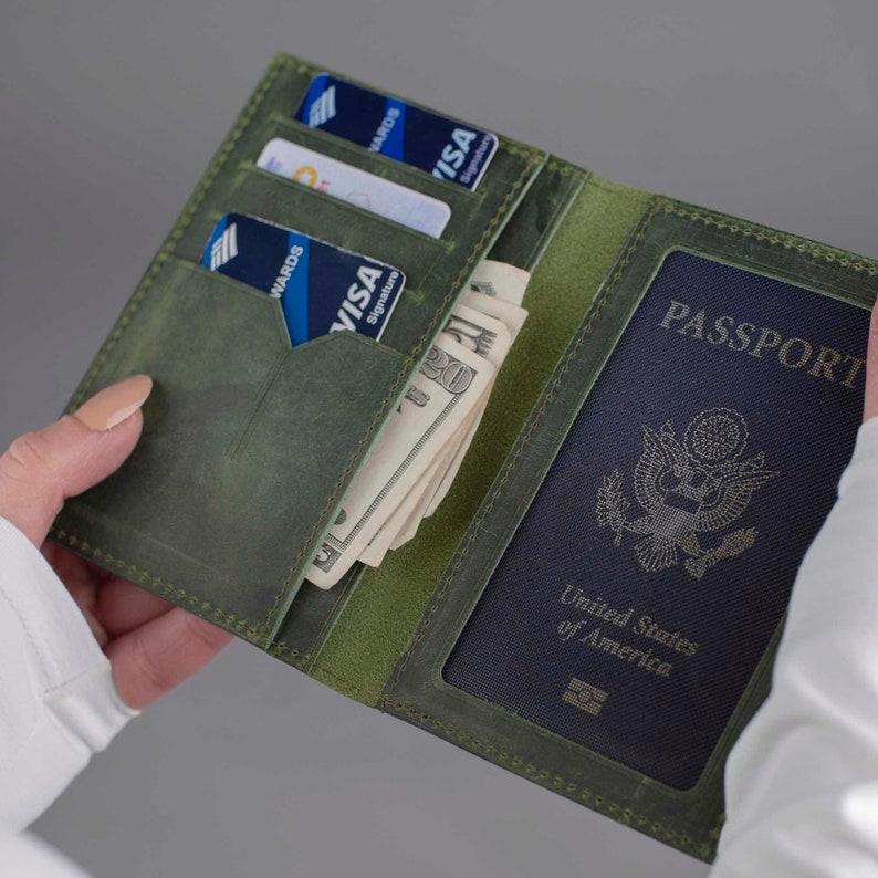 Personalize Passport CoverLeather Passport WalletPassport image 0