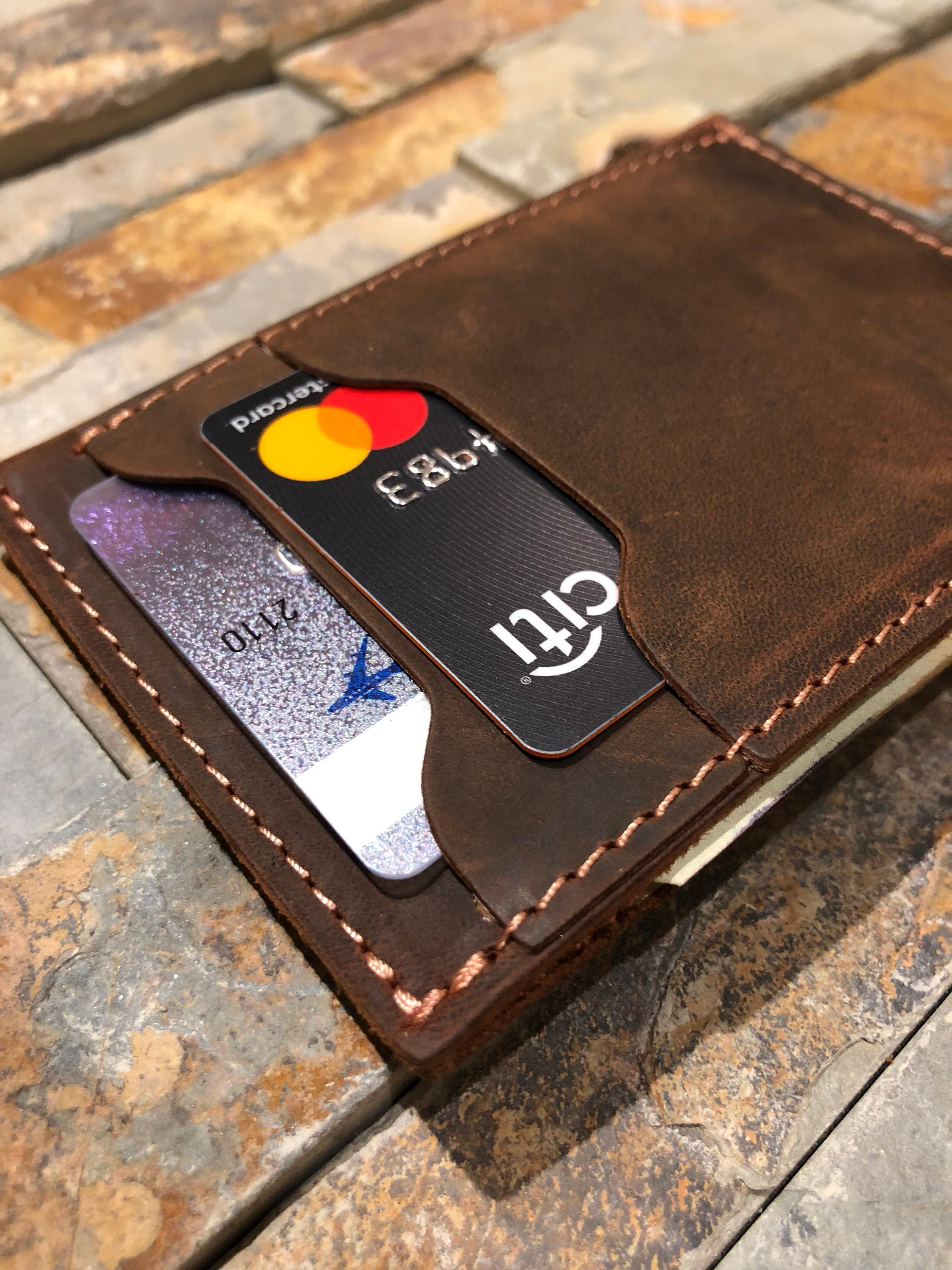 6b22c80764a3da Leather Card Holder LEATHER WALLET Leather Wallet   Etsy