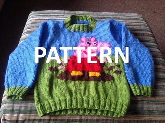 Peppa Pig Pullover Pullover Pullover Strickmuster Pdf Etsy