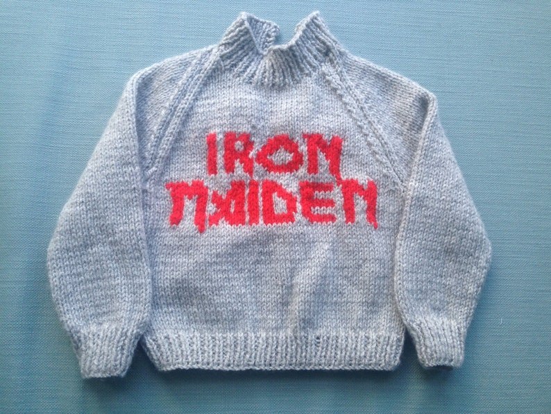 Band name Baby Jumper Iron Maiden Jumper Kiss Baby Pullover image 0