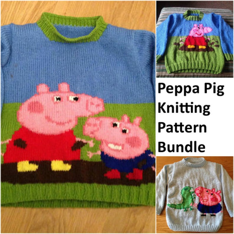 6201ac9c930d Peppa Pig knitting pattern bundle